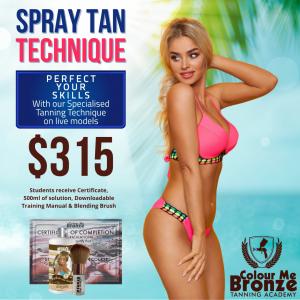 Colour Me Bronze Tanning Academy Spray Tan Technique - New Zealand